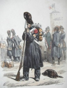 Grenadier of the Old Guard in 1813; an original Grognard. Public Domain from Wikipedia